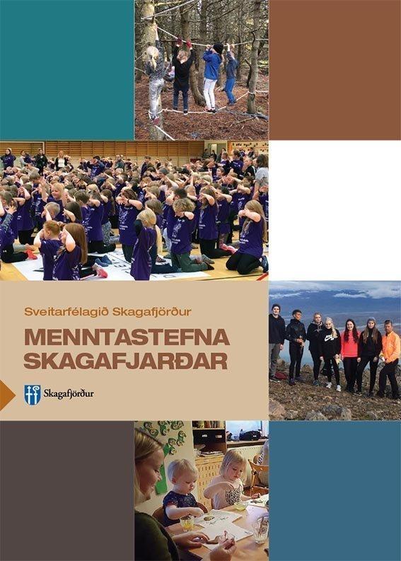 >Kápa Menntastefnu Skagafjarðar. Bæklingurinn var hannaður og prentaður hjá Nýprenti.