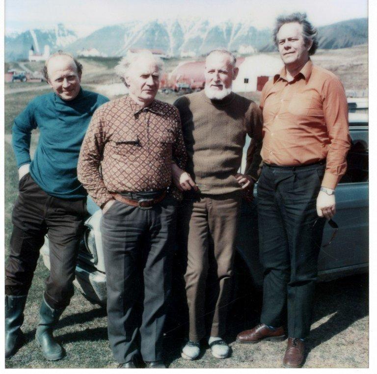 >Einar E. Gíslason, Þorgeir Jónsson í Gufunesi, Haraldur Þórarinsson á Laugalandi og Þorkell Bjarnas…