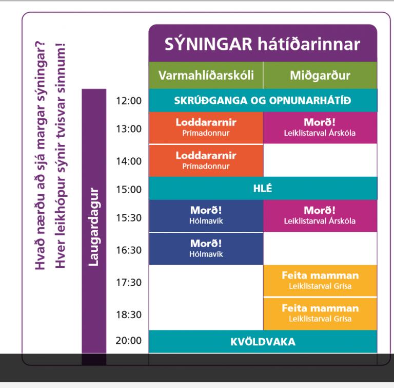 Dagskrá Þjóðleiks.